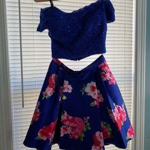 Blue Two Piece Dress
